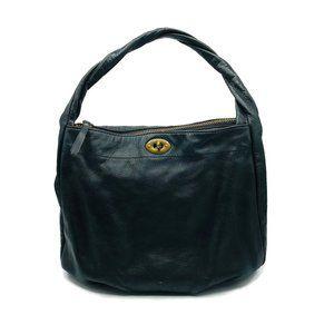 Black J. Crew Leather Hobo Shoulder Bag